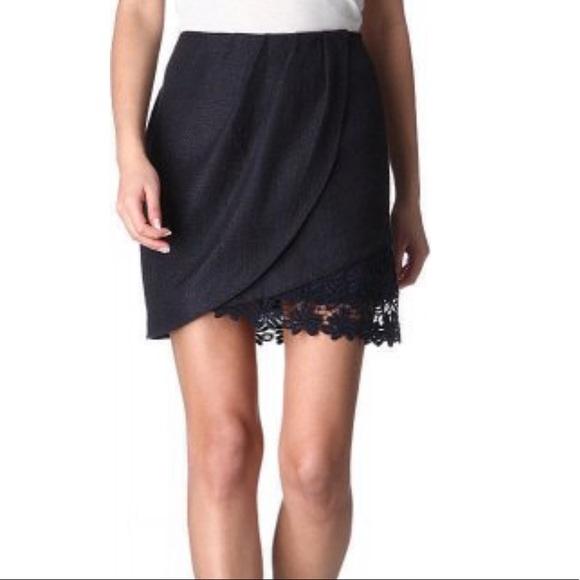 Elie Tahari Dresses & Skirts - Elie Tahari Navy Lace Hem Skirt Size 12